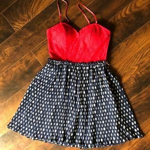 Jodi Kristopher   semi-formal polka dot dress
